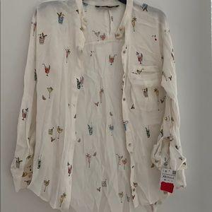 Zara basics shirt xs